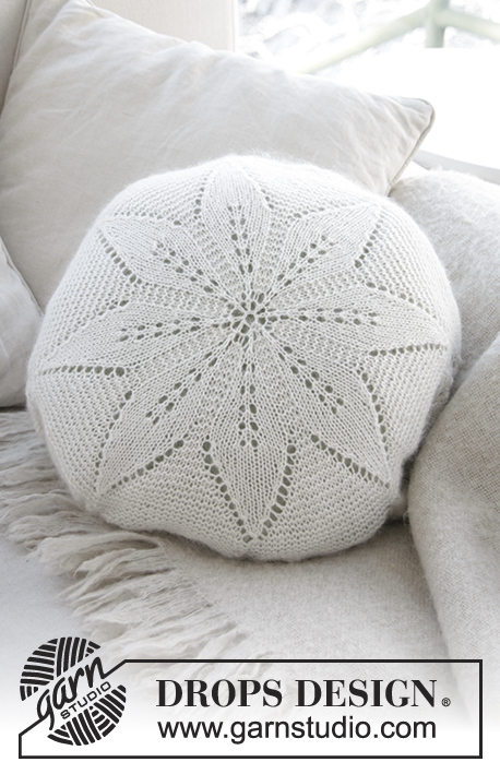 White Flower Pillow Free Lace Knitting Pattern