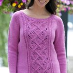 Winter Rose Sweater Free Knitting Pattern