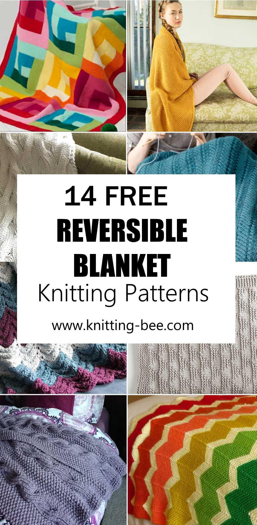 14 Free Reversible Blanket Knitting Patterns
