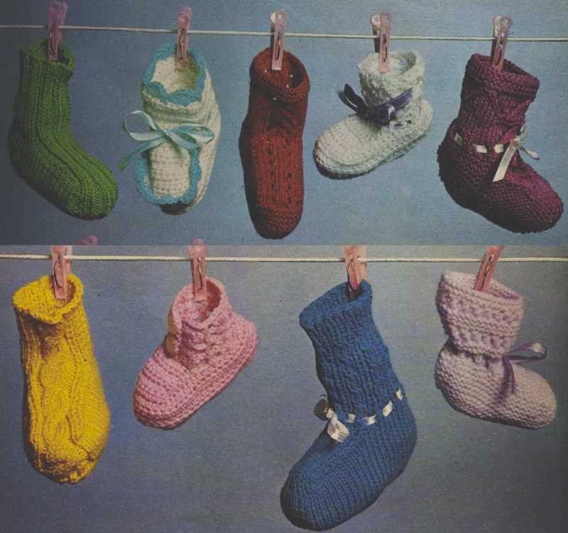 9 Pairs of Vintage Booties Knitting Patterns Free