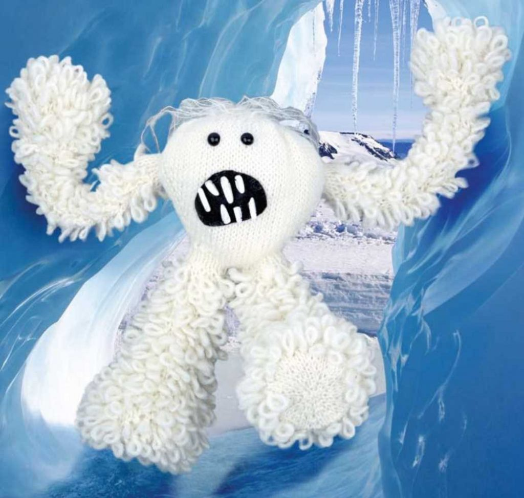 Abominable Snowman Free Toy Knitting Pattern