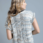 Aqua Feather and Fan Top Free Knitting Pattern for Women