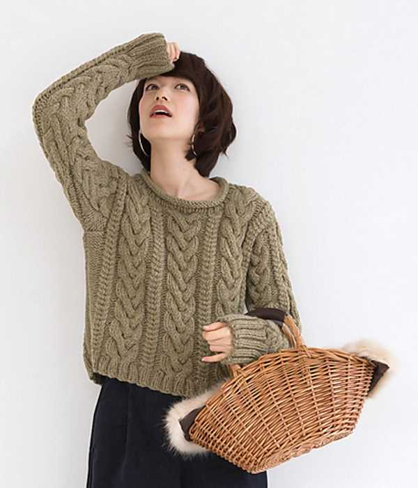 Basic Aran Sweater Free Knitting Pattern Knitting Bee