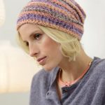 Beanie with Textured Pattern Free Knitting