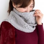 Free knitting pattern for a cable and texture scarf