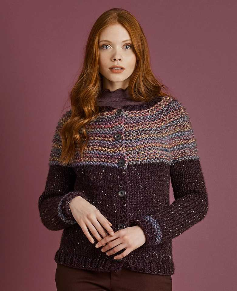 Canarsie Top Down Cardigan Free Knitting Pattern