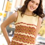 Catch-a-Wave Top Free Top Knitting Pattern for Women