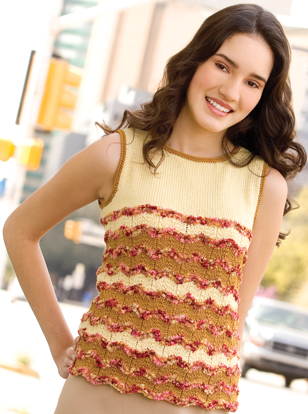 Free free ripple stitch ladies top knitting patterns Patterns ...