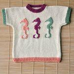 Children's Seahorse Tee Free Knitting Pattern