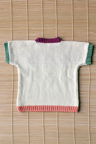 Children's Seahorse Tee Free Knitting Pattern