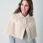 Chunky Cable Cape Free Knitting Pattern
