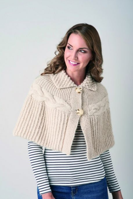 Chunky Cable Cape Free Knitting Pattern Knitting Bee