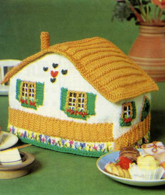 Cottage Tea Cosy Free Knitting Pattern
