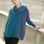 Cowl Neck Diamond Stitch Sweater Free Knitting Pattern - Copy