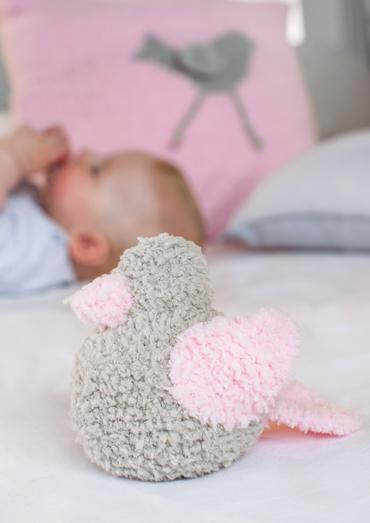 Cute Bird Soft Baby Toy Free Knitting Pattern