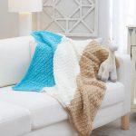 Diamonds for Baby Knit Blanket Free Pattern 1