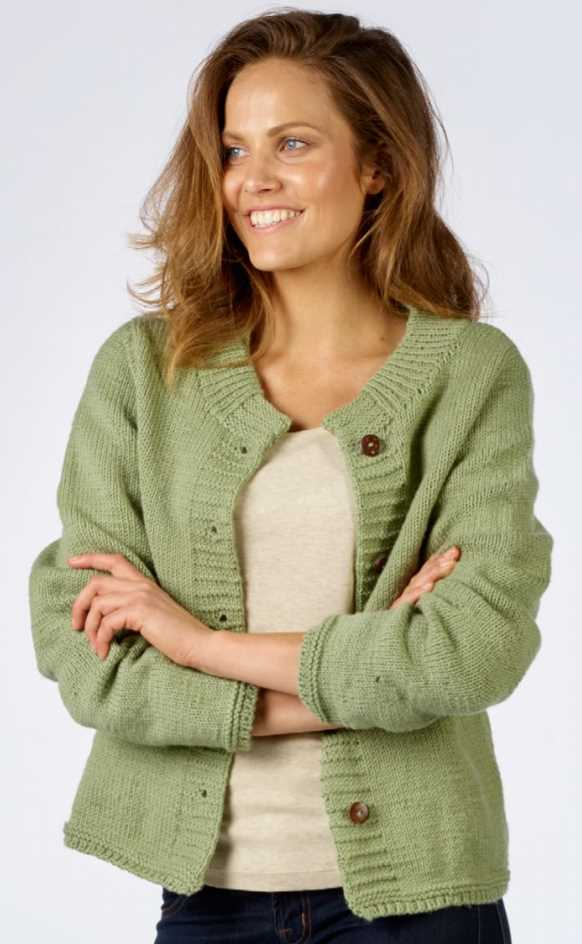 Easy Ladies Stocking Stitch Cardigan Free Knitting Pattern