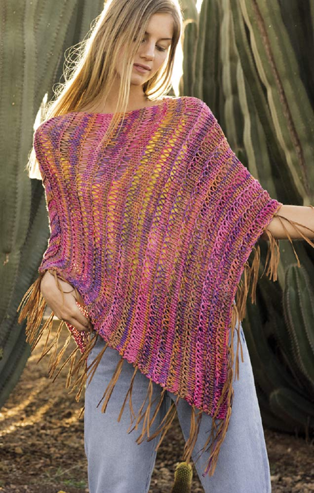 Easy Summer Poncho Free Knitting Pattern ⋆ Knitting Bee
