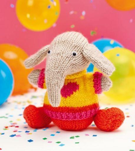 Elvis The Elephant Free Animal Toy Knitting Pattern