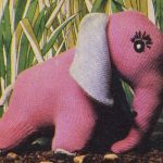 FREE Pinky the Elephant Vintage Toy Knitting Pattern