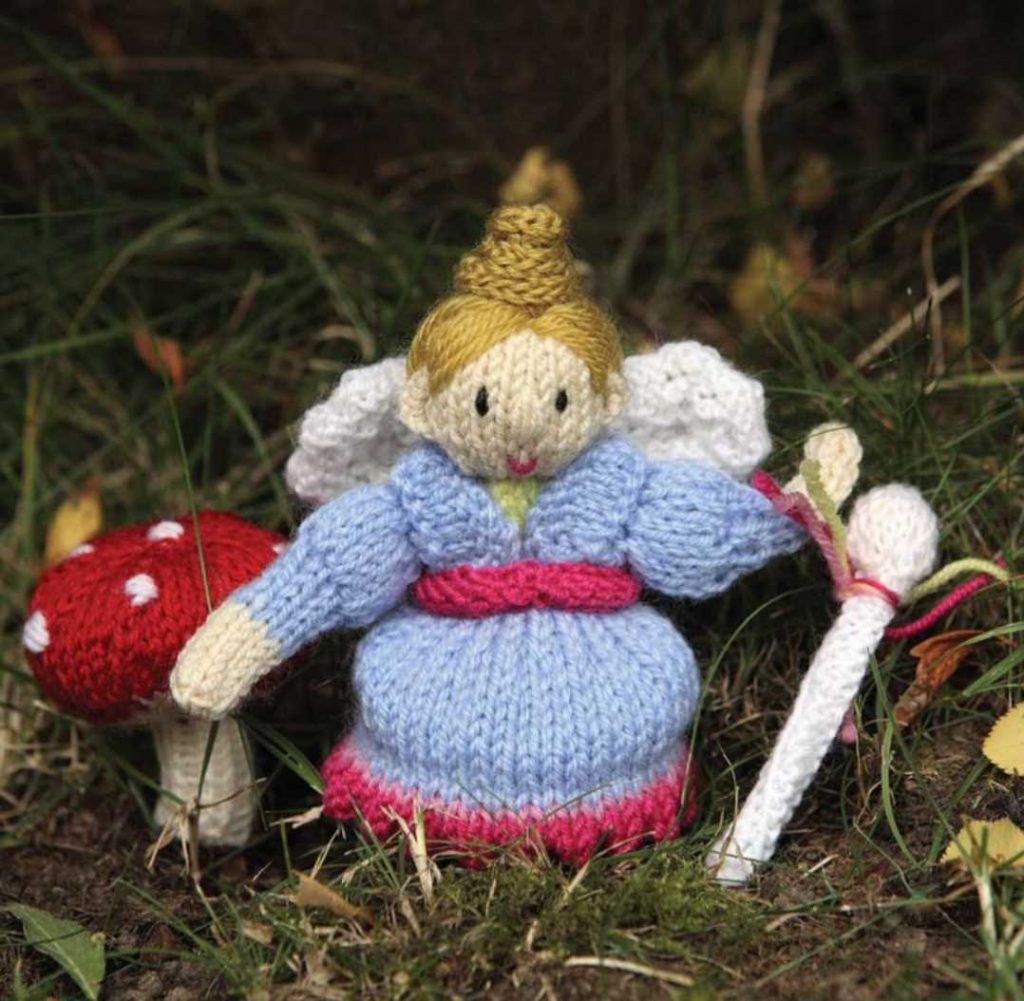 Fairy Godmother Finger Puppet Free Toy Knitting Pattern