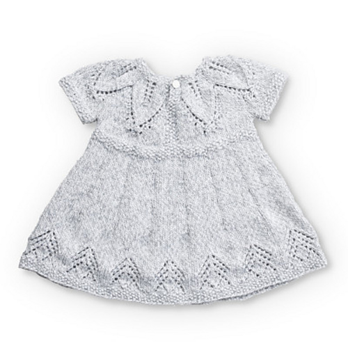 d712a7d8dbb2 Fairy Leaves Dress Free Baby Knitting Pattern 2 ⋆ Knitting Bee