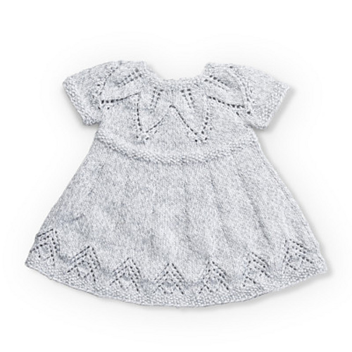 5cd03024468e Fairy Leaves Dress Free Baby Knitting Pattern ⋆ Knitting Bee