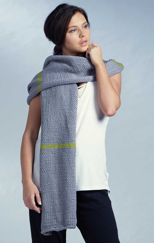 Free Beginner Knitting Pattern for a Wrap.