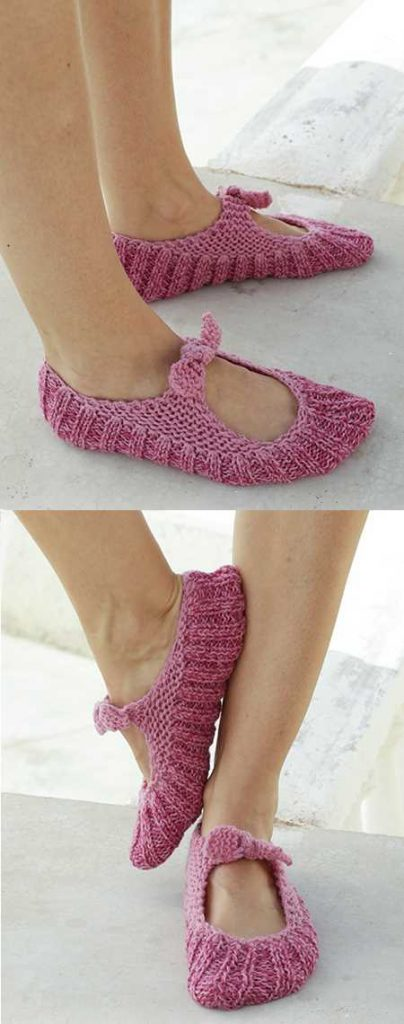 Free Easy Slippers Knitting Pattern