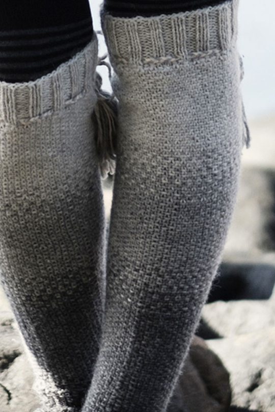 Free Knitting Pattern for Linen Stitch Socks