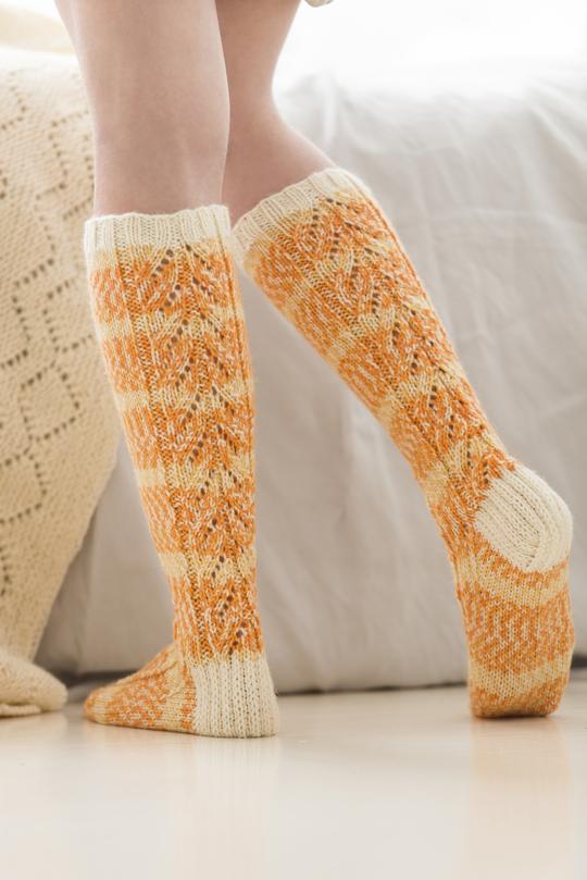 Free Knitting Pattern For Women S Knee High Socks