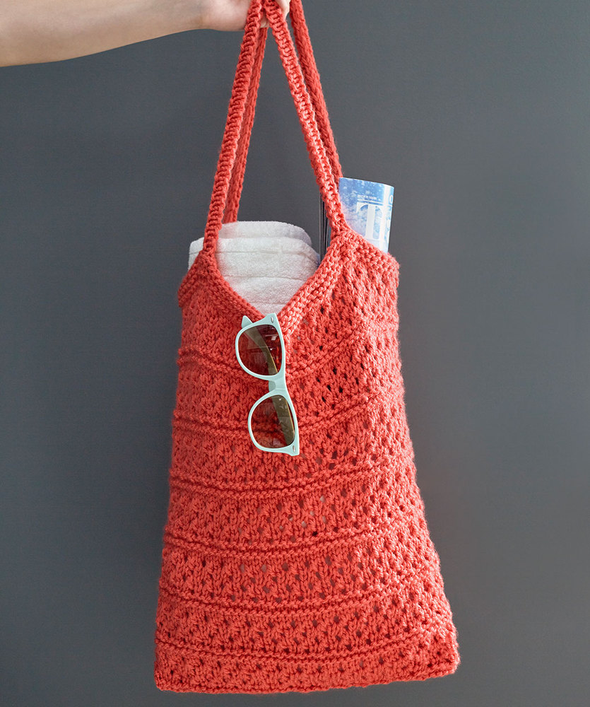 Free Knitting Pattern for a Breezy Knit Market Bag
