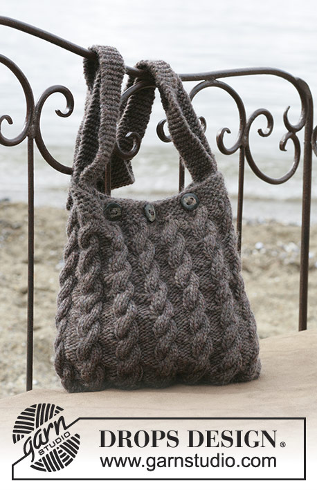 Free Knitting Pattern for a Cable Handbag The Seafarer