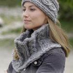 Free Knitting Pattern for a Crowning Cables Headband and Cowl in chunky/bulky yarn.