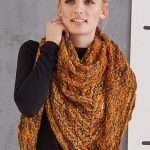 Free Knitting Pattern for a Lace Shawl in Variegated Yarn
