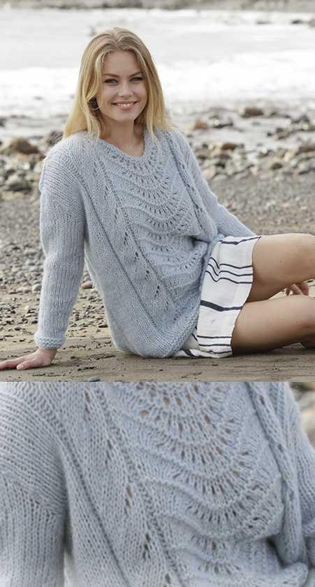 Nimbus Lace Pattern Sweater Free Knitting
