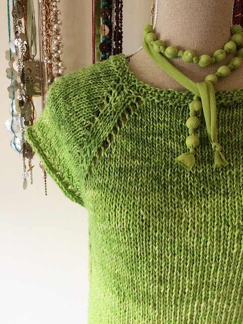 Free Knitting Pattern for a Lace Top Cucumber Sea.