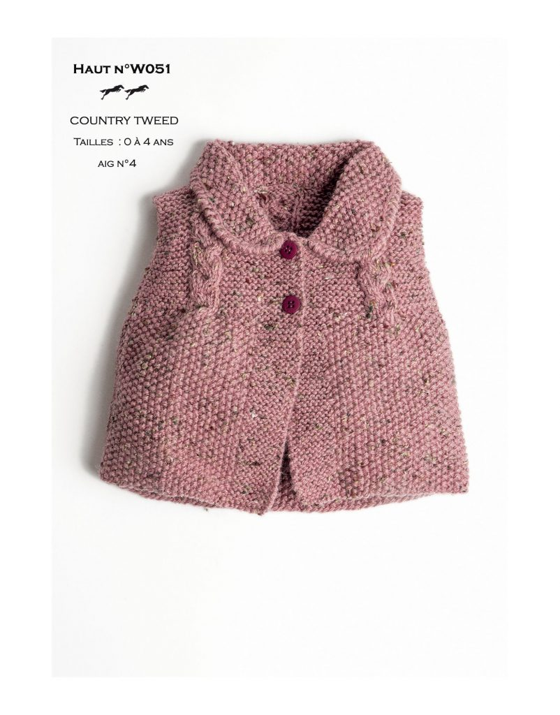 3ec0d357c Free Knitting Pattern for a Mid Season Top for Baby and Girls