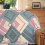 Free Knitting Pattern for a Mitred Square Blanket