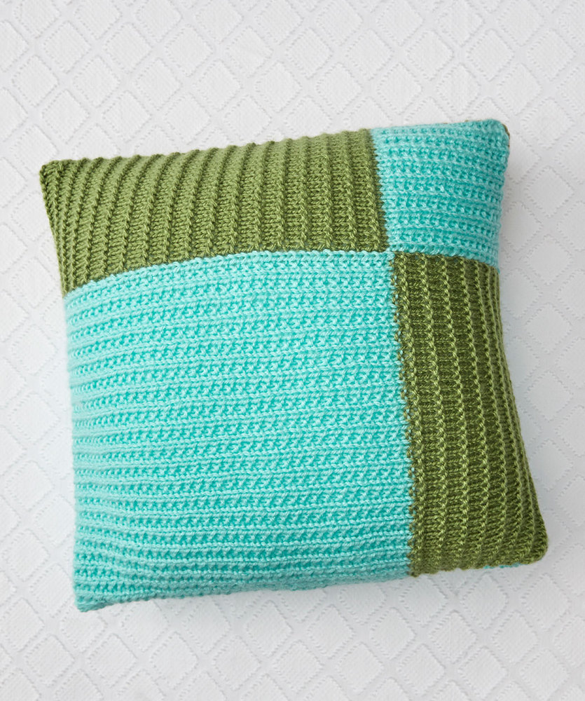 Modern Knitted Pillow : Free Knitting Pattern for a Modern Knit Pillow ? Knitting Bee