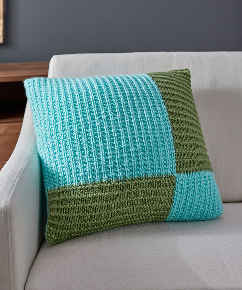 Free Knitting Pattern for a Modern Knit Pillow
