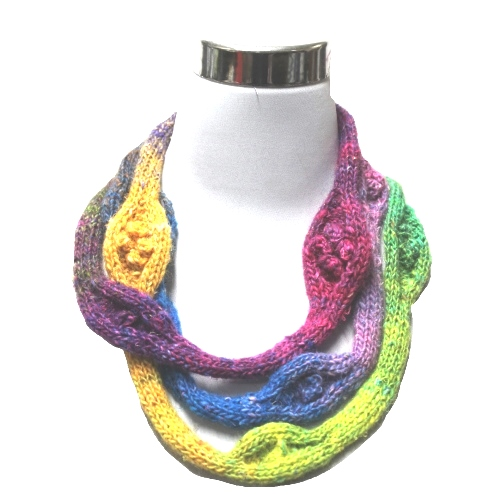 Free Knitting Pattern for a Necklace in Noro Yarn