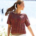 Free Knitting Pattern for a Short-sleeved Pullover