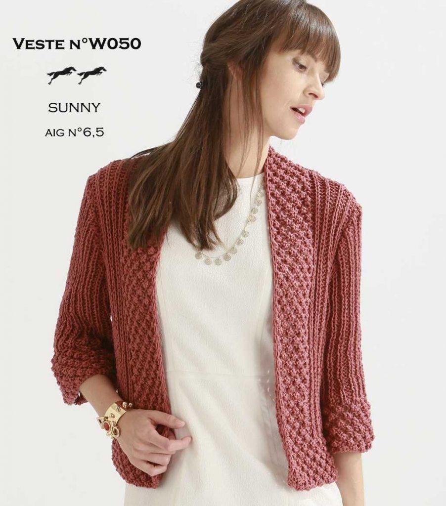 Free Knitting Pattern for a Women's Stylish Jacket