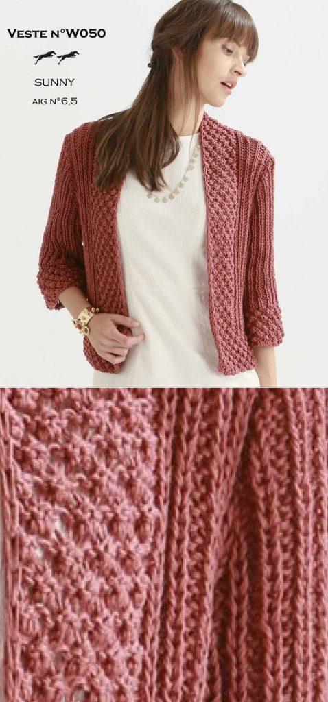 Free Knitting Pattern for a Women\'s Stylish Jacket ⋆ Knitting Bee