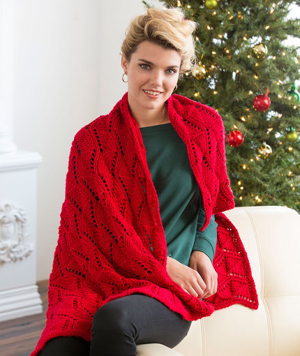 Free Reversible Blanket Knitting Pattern for a Lace Throw