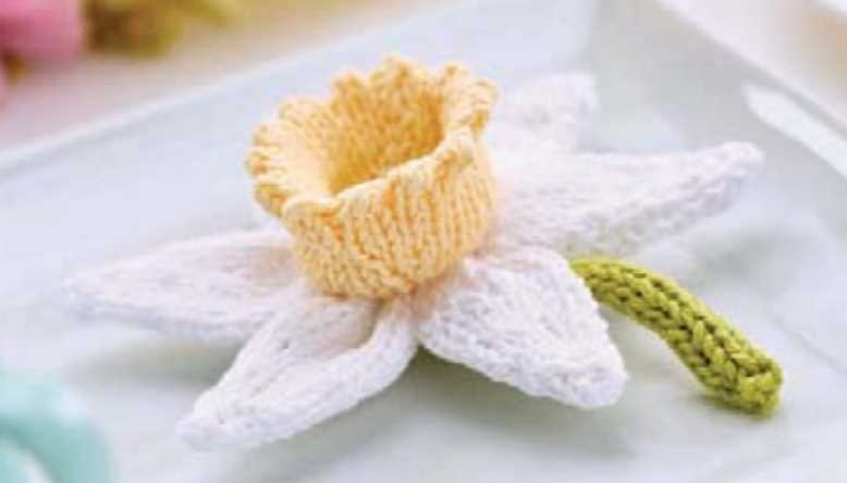 Free daffodil knitting pattern download