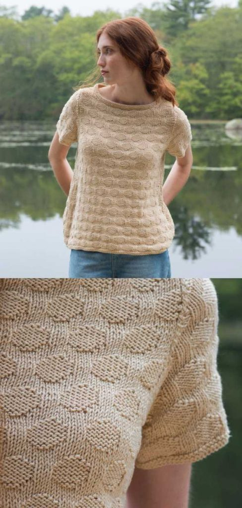 Eastman Free Summer Tee Knitting Pattern ⋆ Knitting Bee