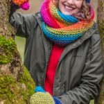 Free Knitting Pattern for a Hat, Cowl and Mittens in Garter Stitch