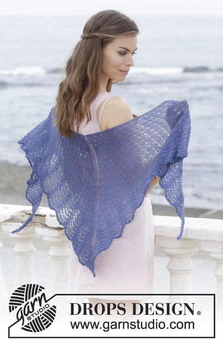 High Tide Lace and Wave Free Shawl Knitting Pattern